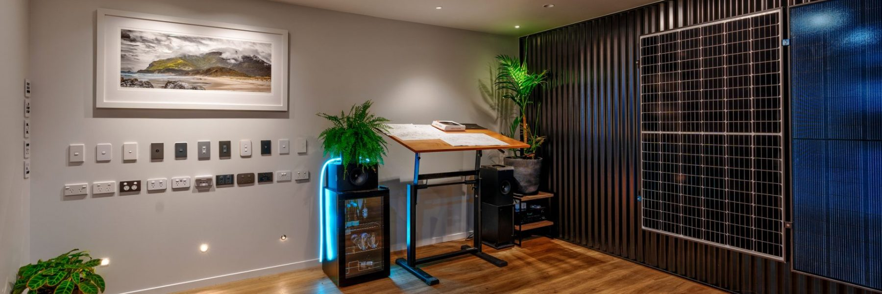 Interior view of Integrated Electrical and Solar's Whangarei showroom